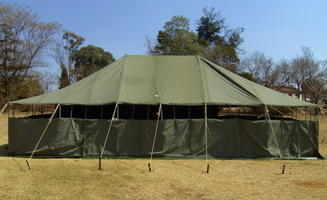 Military Tents - 5M X 10M Hip Roof Tent
